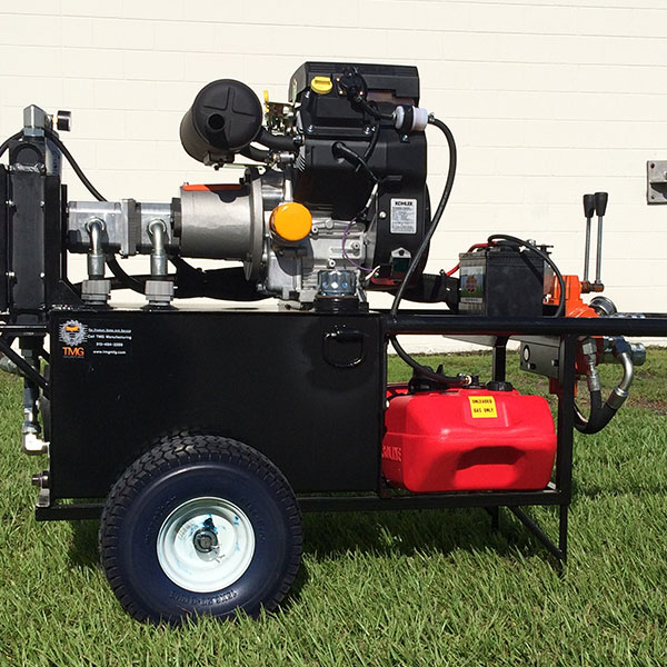 Hydraulic power unit with 2 stage pump
