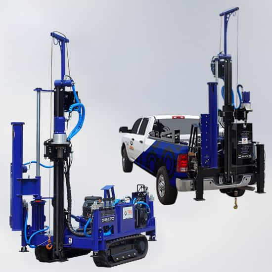 Featured picture of our MA-23 Rotary Drill Mast and SPT Autohammer mini Drill Rig