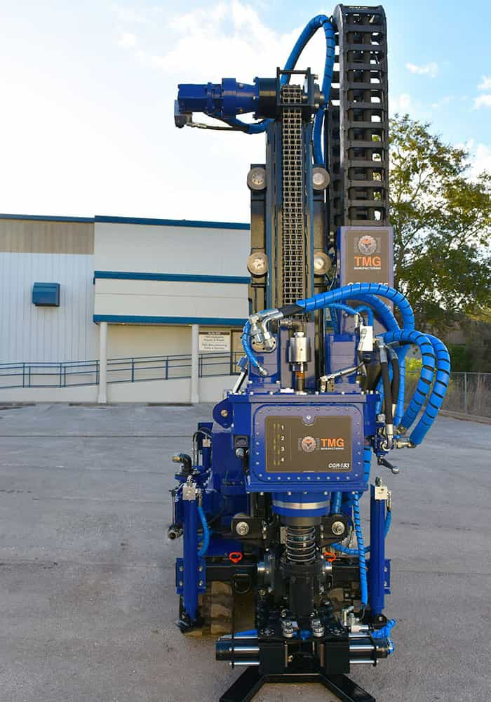 Our drilling rig for grouting casing installation, the CGR-174.
