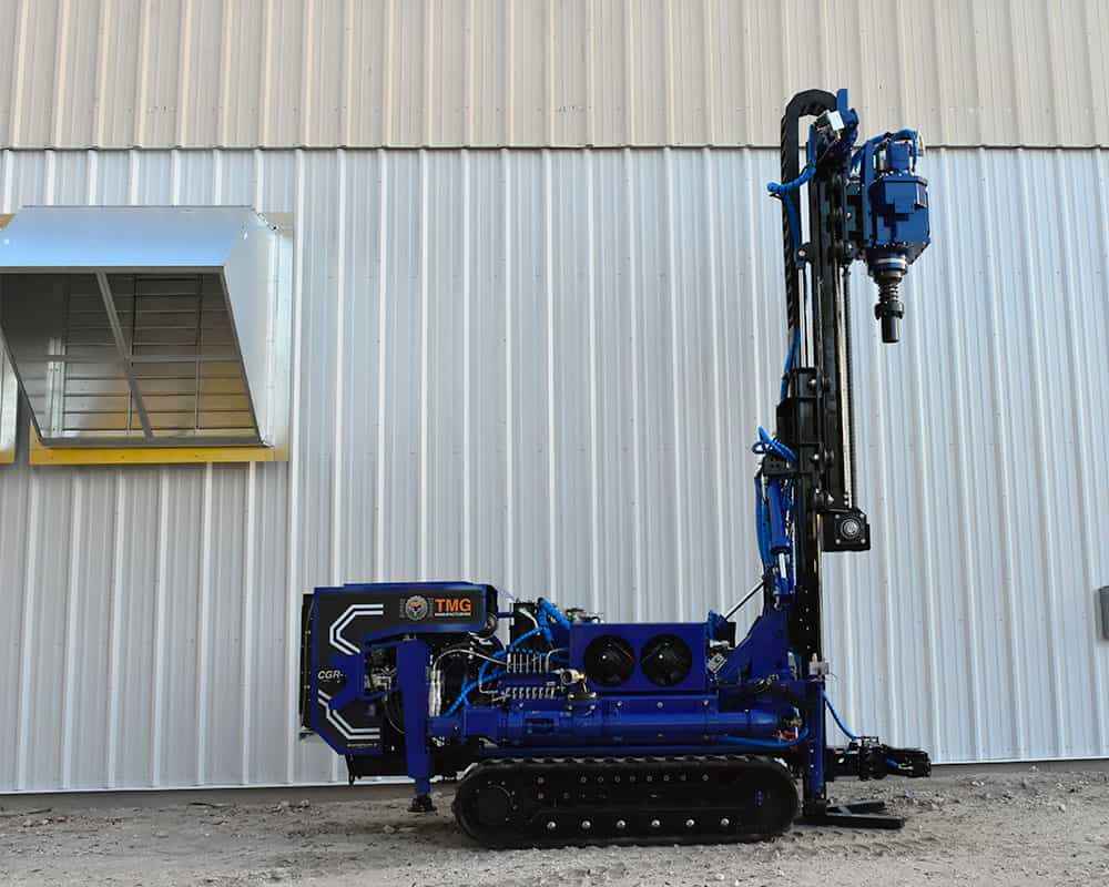 The CGR-174 compaction grouting and rotary drilling drill rig, comes with a 74hp diesel engine.