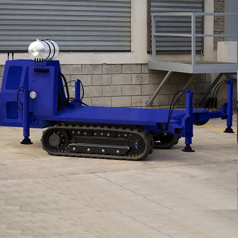 These rubber track carriage is the platform of choice for compaction grouting and foundation repair contractors, drilling and general contractors, landscape designers and farmers.