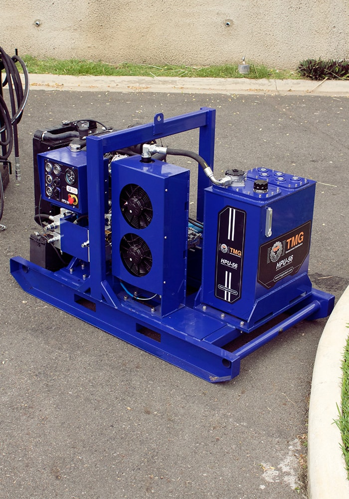 Hydraulic power pack for the soil nail equipment