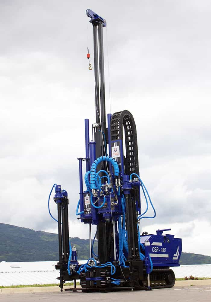 SPT soil test, CPT soil investigation, wireline coring and rotary drilling track mounted drill rig, CSR-155