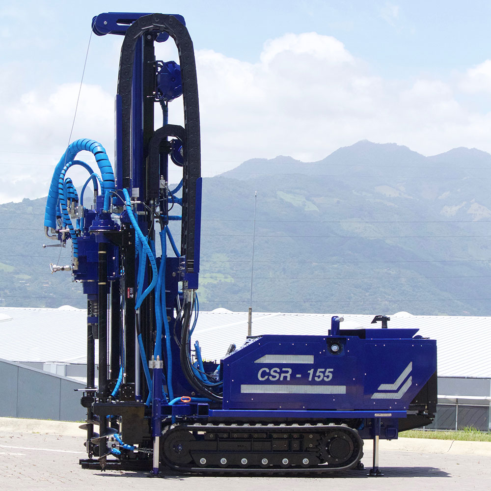 left side view geotech drill rig, track mounted drilling machine CSR-155