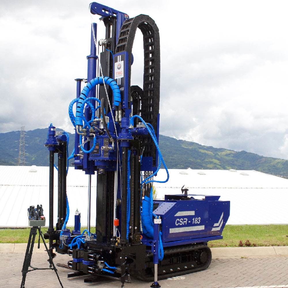 SPT soil test, CPT soil investigation, wireline coring and rotary drilling track mounted drill rig, CSR-174