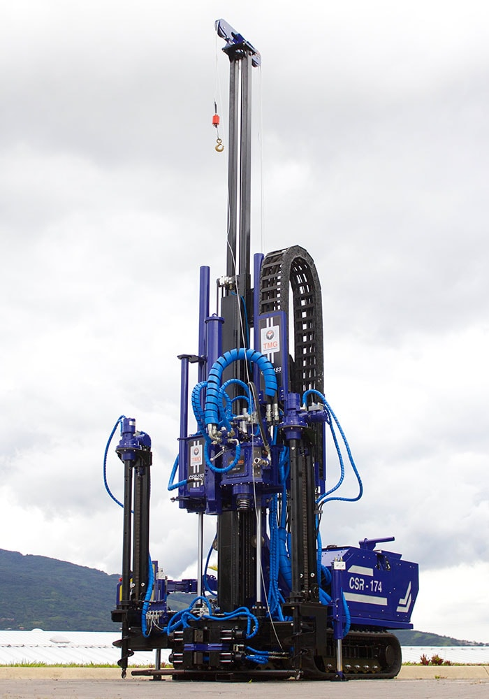 SPT tower extended in our CSR-174 drill rig.