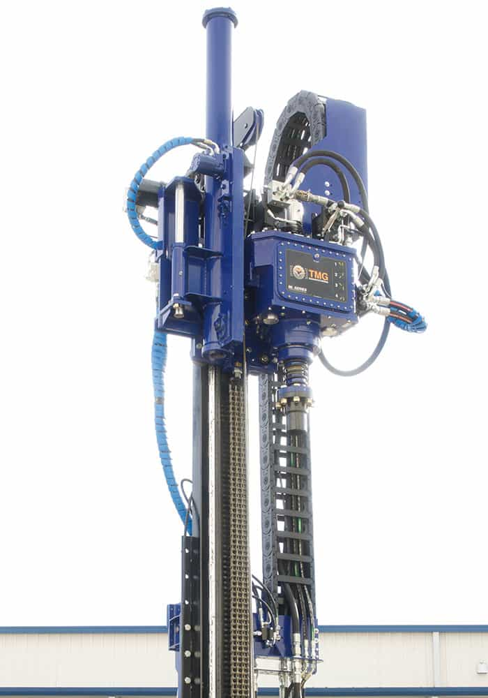 Compact SPT drill rig machine with automahammer and rotary drill head