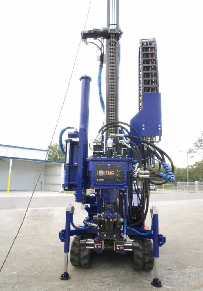 Our STR-138, comes with wireline winch, rotary core drilling head and spt autohammer