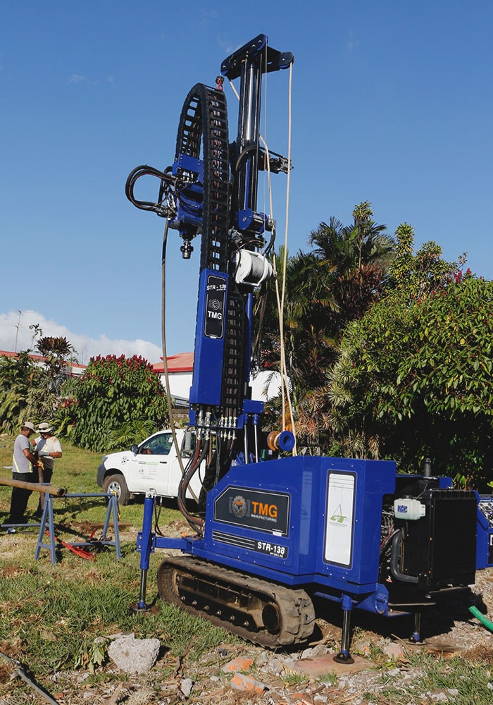 The STR-138 for SPT soil sampling, wireline core drilling and rotary drilling.
