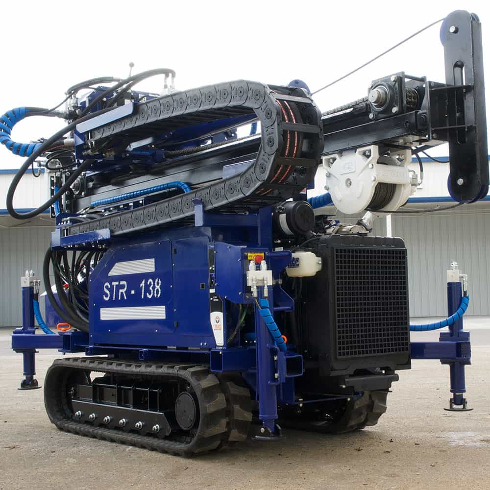 Track mounted drill rig for SPT soil test and rotary drilling.