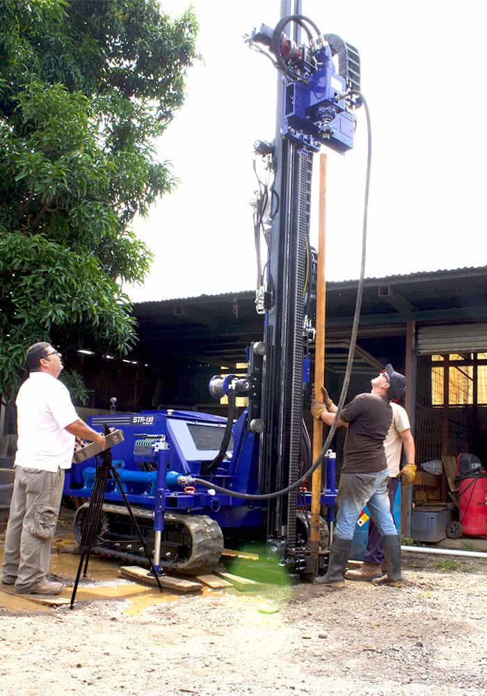Wireline core drilling job site with the STR-155