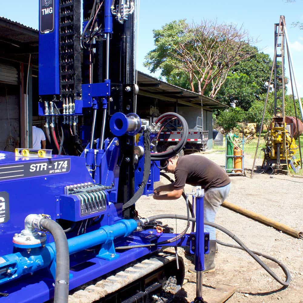 SPT and wireline coring job site with our STR-174 drill rig.