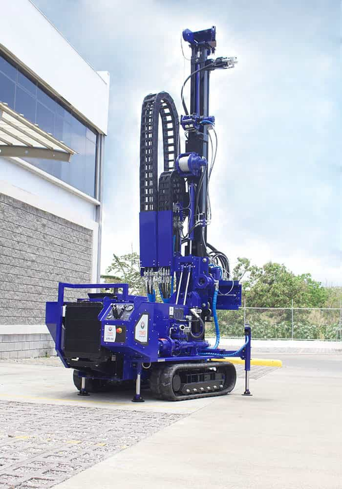 Our drilling rig for SPT, wireline coring and rotary drilling, the STR-174.