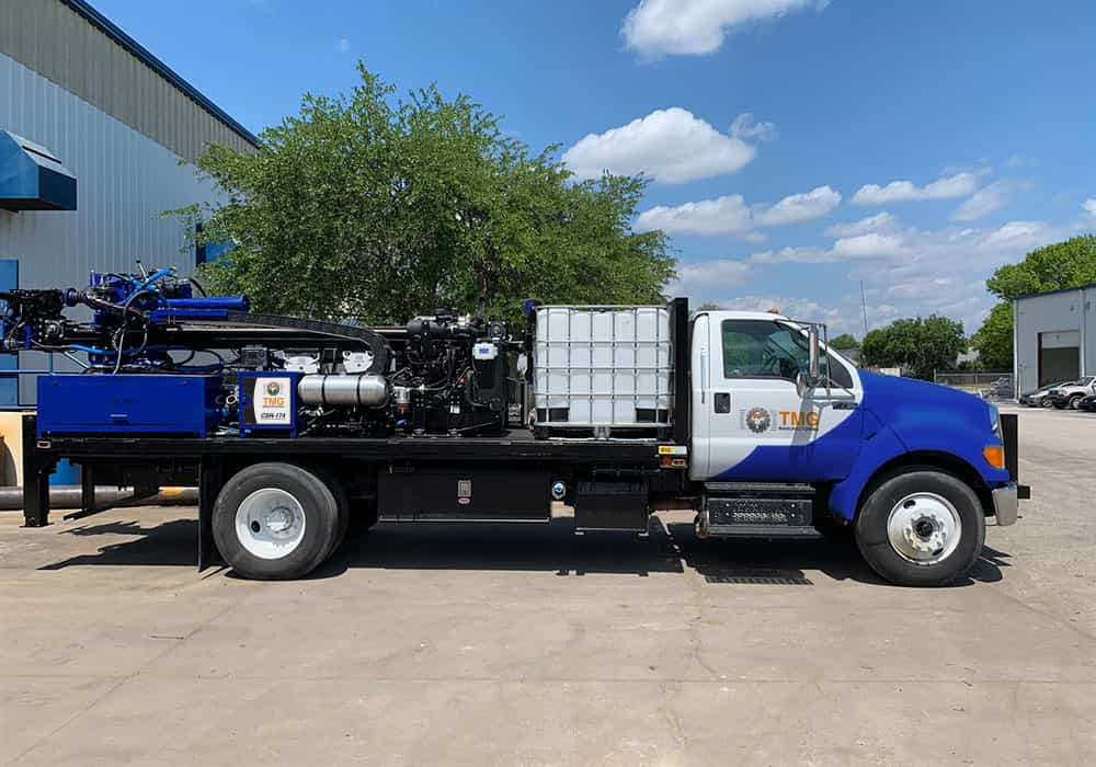 truck mounted drill rig for spt soil testing, wireline core sampling and rotary drilling.