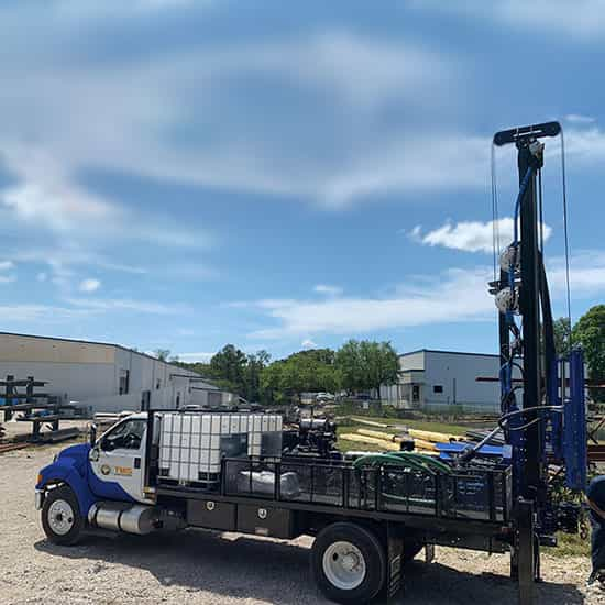 Featured picture of our STR-174TK Truck Mounted Drill Rigs SPT, wireline core and rotary drilling soil test drill rig