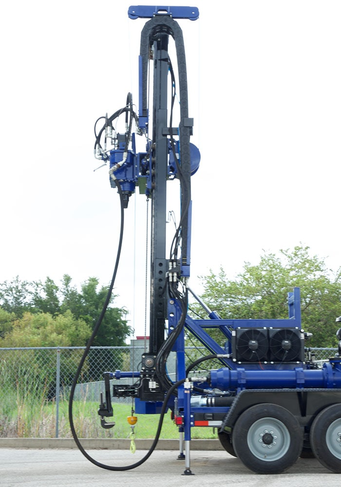 This drill rig is made in the USA, and can be shipped anywhere in world.