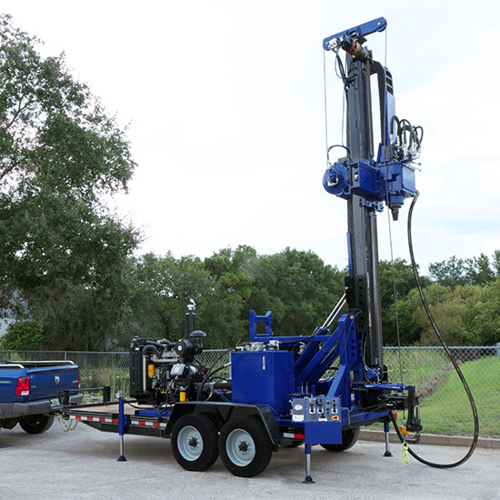 Featured picture of our WW-1136T Trailer Mounted Water Well Drill Rig