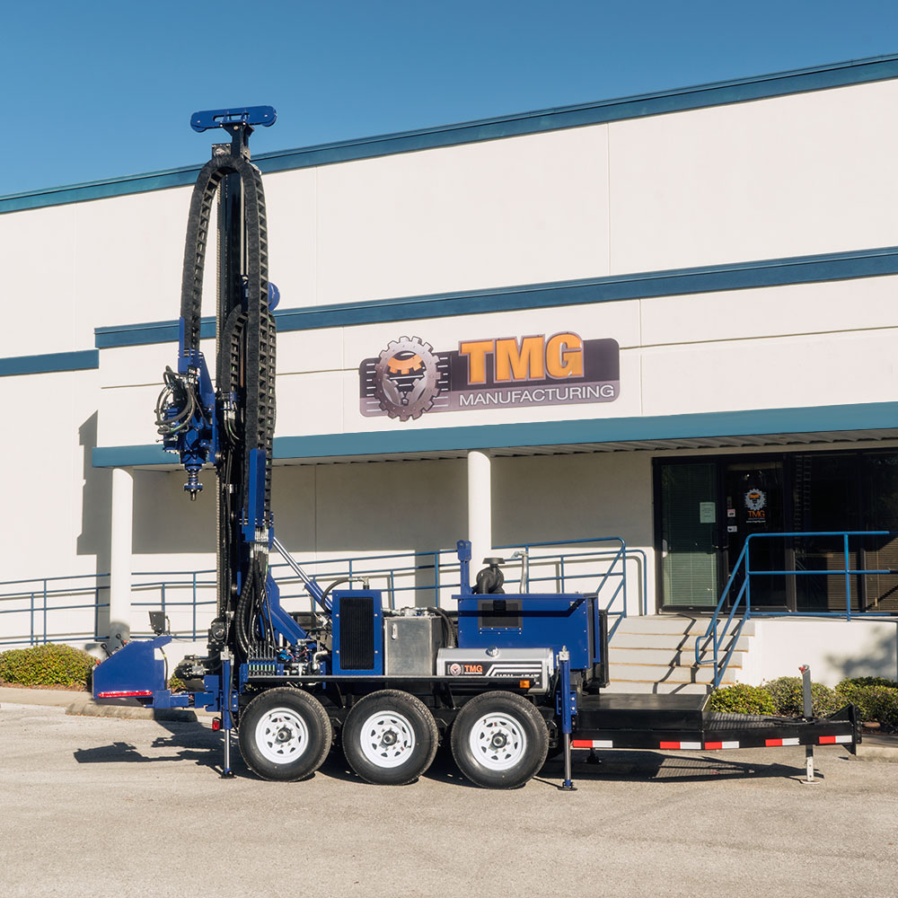 this is our trailer mounted drill rig for water well drilling