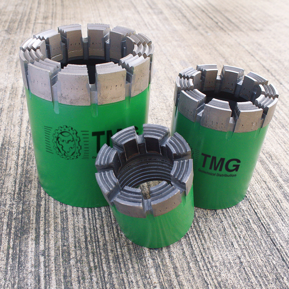 Standard core drill bits for geotechnical industry