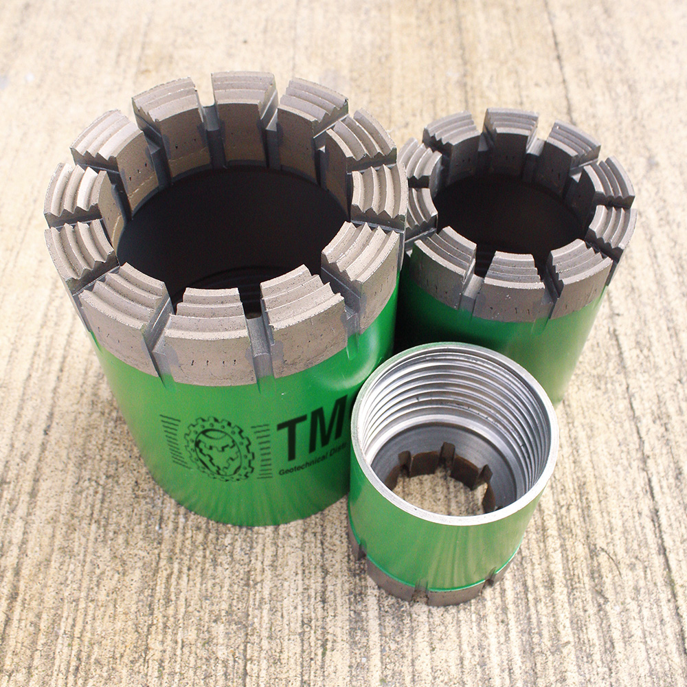 Standard threads coring drill bits