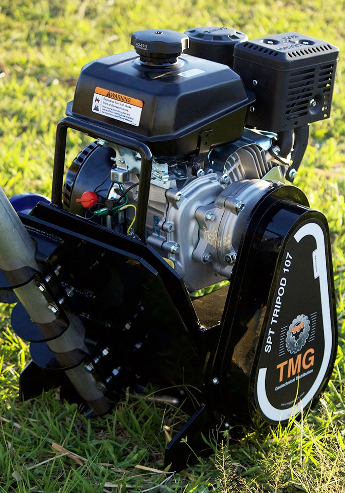 This is the kohler gasoline engine for the SPT Tripod for soil sampling